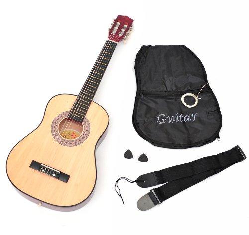achat ts ideen 5257 guitare acoustique 1 2 avec etui sangle jeu de cordes pour enfant de 6. Black Bedroom Furniture Sets. Home Design Ideas