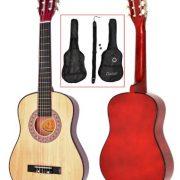 TS-Ideen-5257-Guitare-acoustique-12-avec-Etui-Sangle-Jeu-de-cordes-pour-Enfant-de-6–9-ans-Marron-Naturel-0