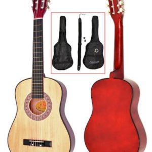 TS-Ideen-5257-Guitare-acoustique-12-avec-Etui-Sangle-Jeu-de-cordes-pour-Enfant-de-6--9-ans-Marron-Naturel-0