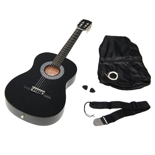 achat ts ideen 5262 guitare acoustique 3 4 avec etui sangle jeu de cordes pour enfant de 8. Black Bedroom Furniture Sets. Home Design Ideas