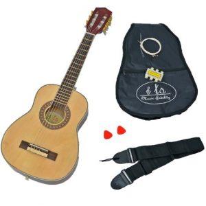TS-Ideen-5280-Guitare-acoustique-de-concert-14-pour-Enfant-de-4--7-ans-Bois-Naturel-0