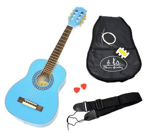 achat ts ideen 5285 guitare acoustique classique 1 4 pour enfant bleu clair. Black Bedroom Furniture Sets. Home Design Ideas