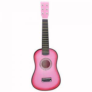 Andoer-23-Musical-Instrument--Cordes-Acoustic-Toy-de-Guitare-Mini-Guitare-Tilleul-Kid-avec-Plectre-1er-Cordes-0
