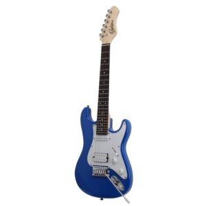 Eagletone-Sun-State-Mini-Guitare-lectrique-type-Stratocaster-34-pour-enfant-Bleu-0