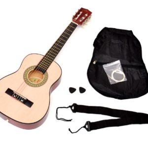 TS-Ideen-5206-Guitare-acoustique-14-avec-Etui-Sangle-Jeu-de-cordes-pour-Enfant-de-4--7-ans-Magenta-0