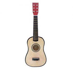 ammoon-23-Mini-Guitare-Basswood-Enfants-Jouet-Musical-Instrument-Acoustique--Cordes-avec-Mdiator-1er-Cordes-0