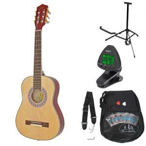 ts-ideen-53211-Guitare-acoustique-de-concert-14-pour-enfants-guitare-en-brun-naturel-pour-enfants-de-4--7-ans-avec-accessoires-0