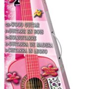 Bontempi-Girl-Gsw-7571s-Guitare-En-Bois-Avec-Sangle-Et-Autocollants-Rose-Laqu-75-Cm-0-0