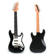 FOKOM-Enfants-Musique-Guitare-Simulation-Cool-Instruments-de-Musique-Jouet-ducatif-Guitare-Electronique-Noir-Blanc-et-RougeBlanc-0-0