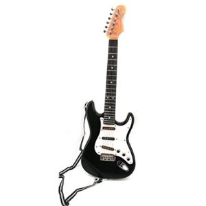 FOKOM-Enfants-Musique-Guitare-Simulation-Cool-Instruments-de-Musique-Jouet-ducatif-Guitare-Electronique-Noir-Blanc-et-RougeBlanc-0