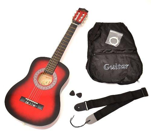 Achat ts ideen 5209 guitare acoustique 1 2 avec housse for Housse guitare acoustique