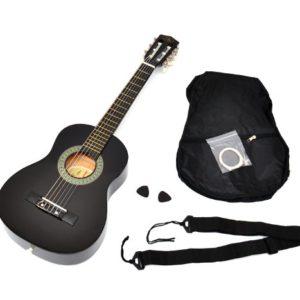 Ts-ideen-52071-Guitare-acoustique-14-pour-enfants-de-4--7-ans-avec-tui-sangle-et-jeu-de-cordes-Noir-0