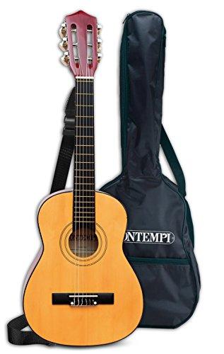 BONTEMPI-217521-Instrument-de-Musique-Guitare-Classique-En-Bois-75-Cm-avec-Housse-de-ProtectionTransport-0