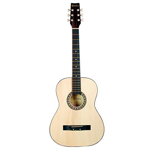 Hapilife-34-Guitare-folk-Blancpour-les-dbutants-les-enfants-et-les-jeunes-diffrent-modle-avec-choix-de-couleur-0