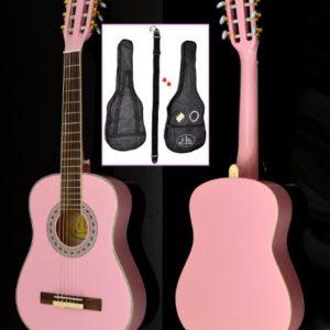 14-de-enfants-acoustique-Guitare-classique-Guitare-classique-rose-0
