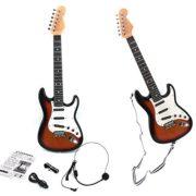 E-Support-Guitare-lectrique-ducationnelle-pour-enfant-avec-bandoulire-et-micro-pour-dbutant-0
