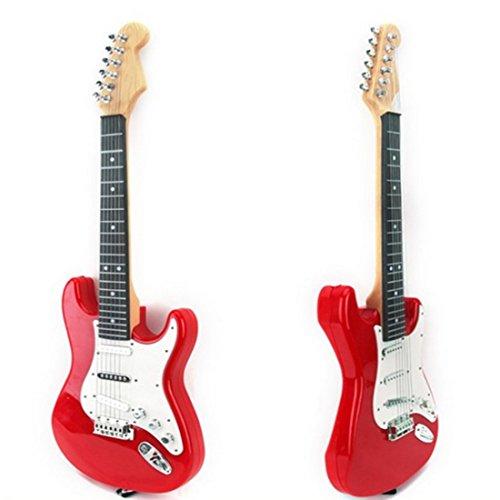 Guitare-Enfant-Anna-Shop-67cm-6-Cordes-Guitare-Electrique-Mtallique-Instrument-de-Musique-pour-Les-Plus-de-3-Ans-Rouge-Blanc-0