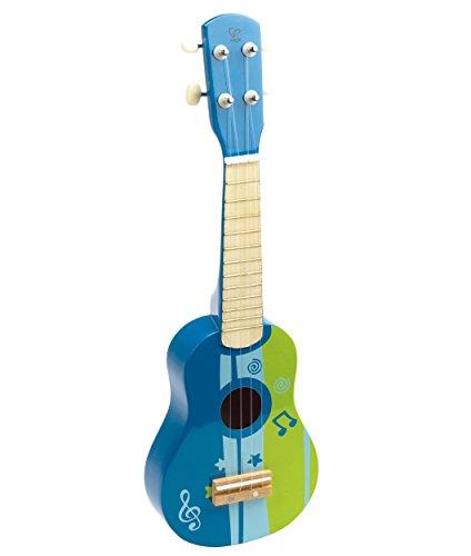Hape-E0317-Instrument-de-Musique-en-Bois-Premier-Age-Ukulele-Bleu-0