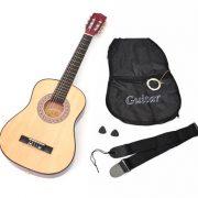 TS-Ideen-5257-Guitare-acoustique-12-avec-Etui-Sangle-Jeu-de-cordes-pour-Enfant-de-6–9-ans-Marron-Naturel-0-0