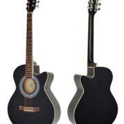 Ts-Ideen-Guitare-folk-acoustique-44-avec-partie-en-palissandre-Housse-rembourre-Sangle-Jeu-de-cordes-de-rechangeDiapason–bouche-Noir-0-0