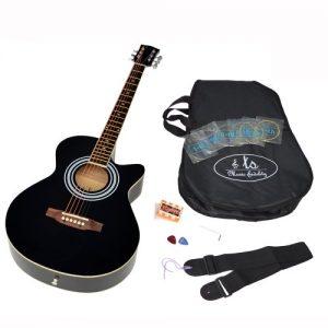Ts-Ideen-Guitare-folk-acoustique-44-avec-partie-en-palissandre-Housse-rembourre-Sangle-Jeu-de-cordes-de-rechangeDiapason--bouche-Noir-0