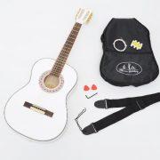Guitare-acoustique-concert-en-blanc–la-taille-34-pour-enfants-de-8–12-ans-set-daccessoires-0-0