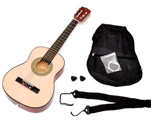TS-Ideen-5206-Guitare-acoustique-14-avec-Etui-Sangle-Jeu-de-cordes-pour-Enfant-de-4–7-ans-Magenta-0