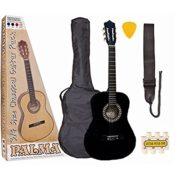 Palma-PL34BKOFT-Kit-de-Guitare-Junior-Taille-34-Noir-0