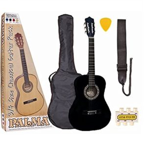 Palma-PL34BKOFT-Kit-de-Guitare-Junior-Taille-34-Noir-0