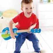 Hape-E0317-Instrument-de-Musique-en-Bois-Premier-Age-Ukulele-Bleu-0-0