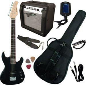 Pack-Guitare-Electrique-34-Noire-Pour-Enfant-avec-7-Accessoires-0
