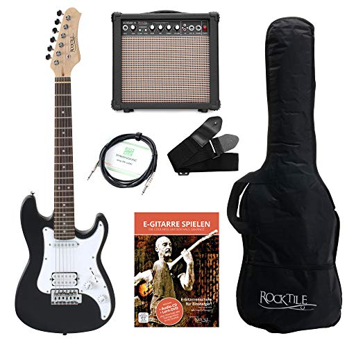 Rocktile-Sphere-Junior-Guitare-Elctrique-Noir-SET-34-avec-ampli-cable-et-sangle-0