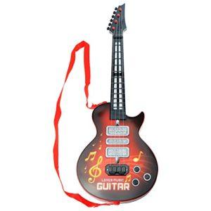 Shayson-4-chanes-Musique-Guitare-Guitare-lectrique-Kids-Enfants-bb-Musical-Instruments-ducatifs-Jouet-Cadeau-pour-Tout-Petit-bb-Rouge-0