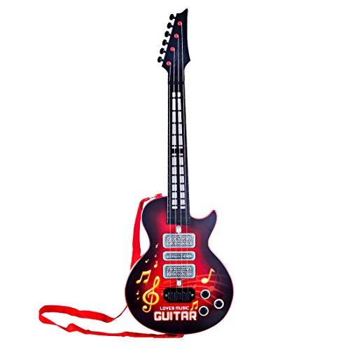 ANNA-SHOP-4-Cordes-Guitare-lectrique-Enfant-Simulation-Guitare-Classique-Jouet-3-Ans-Rouge-0