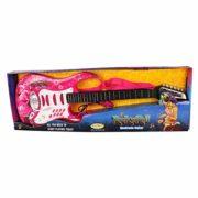 DYFO-Guitare-Enfant-6-Cordes-Guitare-Electrique-Jouet-Idal-pour-denfants-Dbutant-Rose-0-0