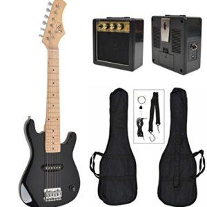 Guitare-lectrique-enfants-noir-avec-sac-et-ceinture-amplificateur-de-haut-parleur-4-8-ans-0