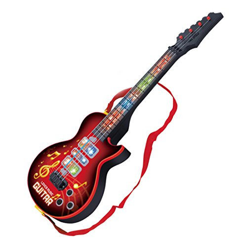 Guitare-pour-Enfant-Jouet-Musical-Guitare-lectrique-4-cordes-Rouge-53cm-0