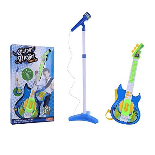 Maissine-Ensemble-Guitare-et-Micro-Guitare-Electrique-Enfant-avec-Microphone-Support-pour-Enfants-Garon-Fille-0