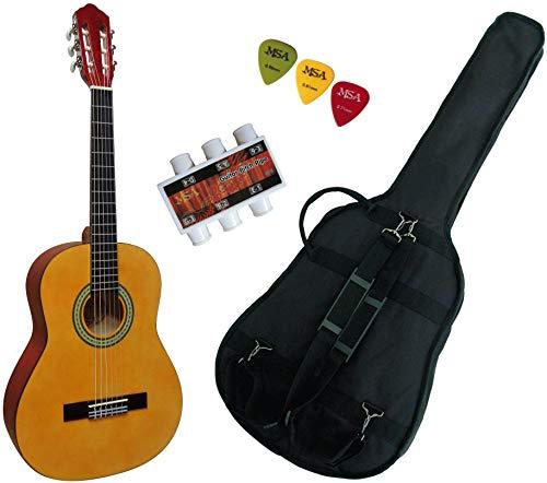 Pack-Guitare-Classique-34-8-13ans-Pour-Enfant-Avec-3-Accessoires-nature-0