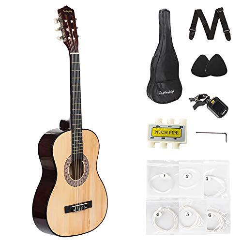 Dawoo-Guitare-Classique-Kit-De-Guitare-Naturelle-Pour-DbutantsEnfants-Guitare-Acoustique-Y-compris-Un-tui–Guitare-0