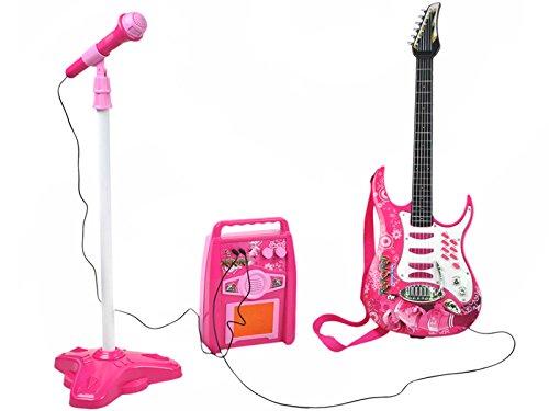 ISO-TRADE-Guitare-lectrique-amplificateur-Microphone-avec-Support-Rose-pour-Filles–Piles-4709-0