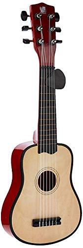 Concerto-701201P-Guitare-en-Bois-avec-mdiator-pour-Enfants–partir-de-3-Ans-Naturel-0
