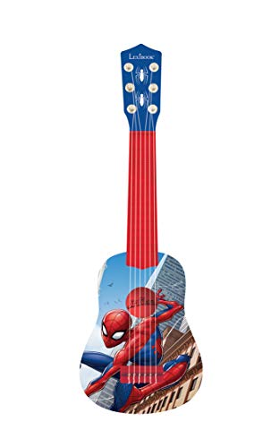 Lexibook-BleuRouge-Marvel-Spider-Man-Peter-Parker-Ma-premire-Guitare-6-Cordes-en-Nylon-53-cm-Guide-Inclus-K200SP-01-0