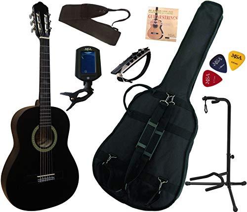 Pack-Guitare-Classique-34-8-13ans-Pour-Enfant-Avec-7-Accessoires-noir-0